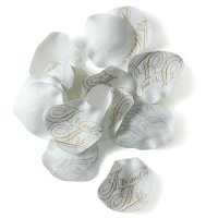Mr. and Mrs. Printed Silk Wedding Flower Petals