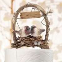 Rustic Nest Archway Love Birds Cake Topper