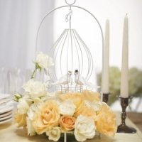 Ornamental Tear Drop Design Wire Suspended Centerpiece