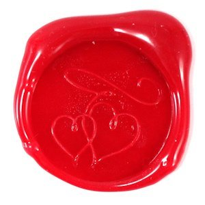Double Hearts Flexible Wax Seals (Set of 5 - 7 Colors) image