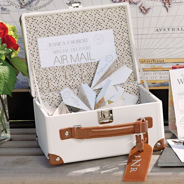 Alternative Gifts For Wedding Party : Mini Suitcase Wishing Well (Alternative Wedding Guest Book)