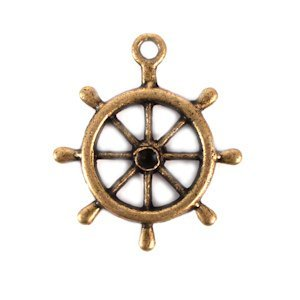 Boat Wheel Charm (Set of 12) image