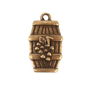Wine Barrel Charm (Set of 12) image