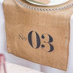 Burlap Chic Personalized Table Number Burlap Table Runner