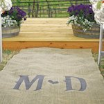 Vineyard Monogram Burlap Outdoor Aisle Runner