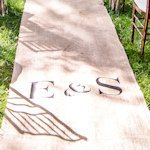 Bold Monogram Outdoor Wedding Aisle Runner