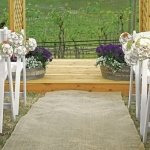 Country Charm Burlap Aisle Runner for Outdoor Weddings