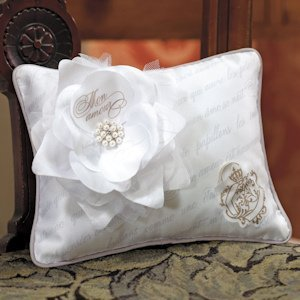 Parisian Love Letter Blossom Ring Pillow image