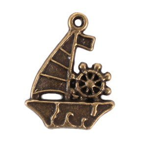 Sail Boat Charm (Set of 12) image