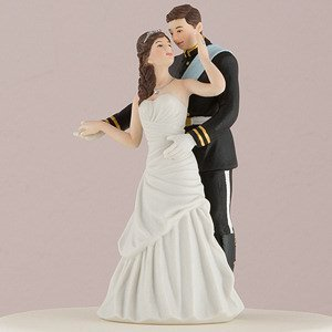 Prince and Princess Couple Wedding Cake Topper image