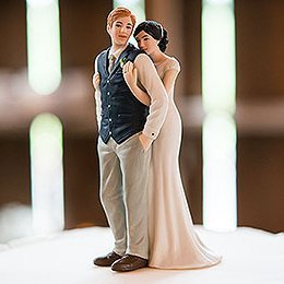 Sweet Embrace Couple Wedding Cake Topper image