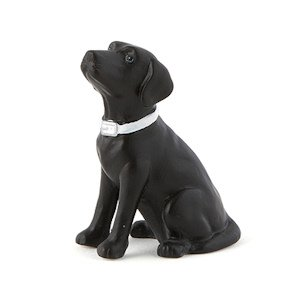 Labrador Dog Cake Topper Figurine (Black or Brown) image