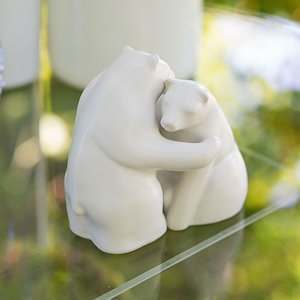 Interlocking Bear Hug Cake Topper Figurine Set image