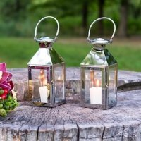 Stainless Lanterns with Glass Panels