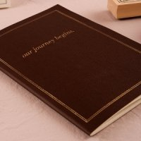 'Our Journey Begins' Travel Inspired Alternative Guest Book