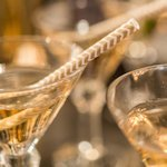 Chevron Print Paper Straws (Metallic Gold or Silver)