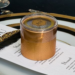 Gold Art Deco Cylinder Boxes (Set of 6) image