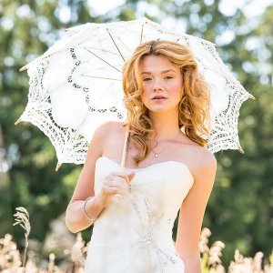 Standard Battenburg Lace Parasol (2 Colors) image