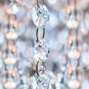 Clear Acrylic Beaded Garland image