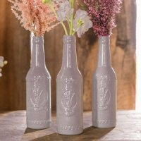 Vintage Inspired Ceramic Bottle with Lavender Motif