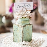 Shabby Chic Stationery/Photo Holder with Floral Detail