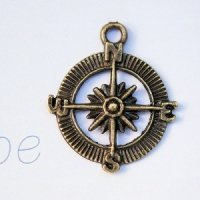 Compass Charms (Set of 12)
