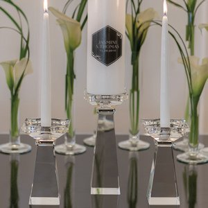 Crystal Unity Candle Holders (2 Sizes) image