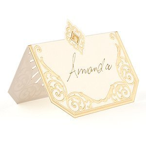 Art Deco Laser Embossed Place Cards (Set of 20) image