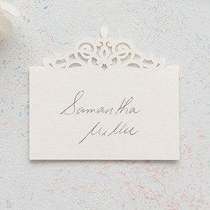 Pearl Romance Laser Embossed Place Cards (Set of 20) image
