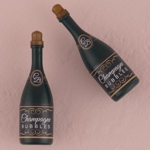 Champagne Bottle Wedding Bubbles image