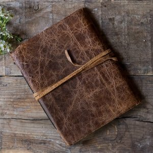 Rustic Style Leather Bound Journal Guest Book image