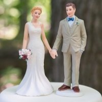 Woodland Bride and Groom Mix and Match Cake Topper