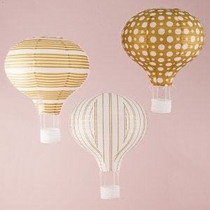 Hot Air Balloon Paper Lantern Set of 3 image