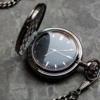 Pocket Watch with Gun Metal Finish
