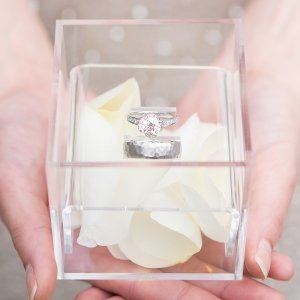Unique Alternative Acrylic Wedding Ring Box image