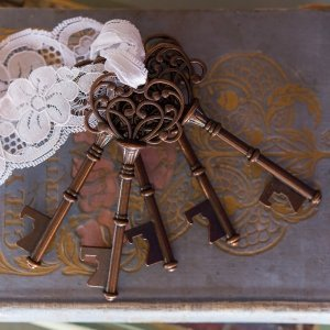 Vintage Key Bottle Opener with Bronze Finish (Set of 6) image