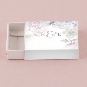 Floral Dreams Design Matchbox Drawer-Style Favor Box image