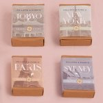 Vintage Travel Kraft Matchbox Style Favor Box (Set of 8)