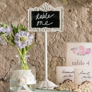 Tabletop Antique White Blackboard Stand image