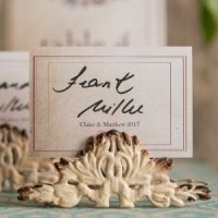 Antique White Stationery Holder