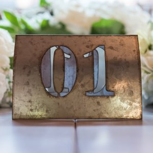 Laser Cut Self Standing Metal Table Number Set image