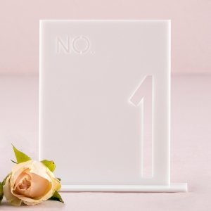 White Acrylic Block Style Table Number image
