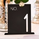 Block Style Black Acrylic Table Number