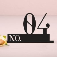 Double Digit Style Black Acrylic Table Number