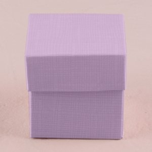 Lavender Favor Box with Lid (Set of 10) image