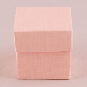 Blush Pink Square Favor Box with Lid (Set of 10) image