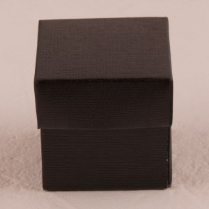Black Square Favor Box with Lid (Set of 10) image
