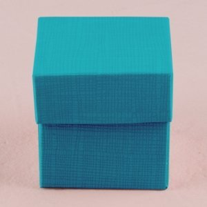 Oasis Blue Square Favor Box with Lid (Set of 10) image