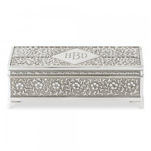 Personalized Antique Silver Jewelry Box image