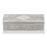 Personalized Antique Silver Jewelry Box